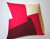 SALE 30% off - Color Block Quilted Pillow Cover - 16 x 16