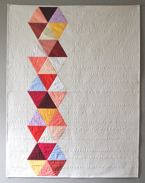 Rose Triangle Bead Quilt