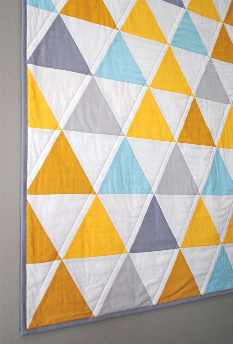 Equilateral Triangles Crib Quilt
