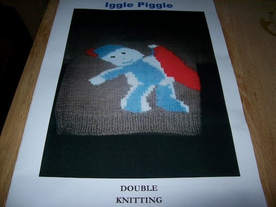 Knitting Pattern Iggle Piggle : Items similar to OWN DESIGN Iggle Piggle Jumper Knitting ...