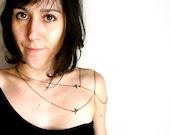 Like a tattoo Bird Shoulder jewelry ( body chain, pirate, spring, sparrow, verdigris, love, harness, goddess ) 26