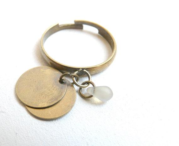 Charms ring ( retro, childhood, grey drop, iridescent, jam, bobo ) 04