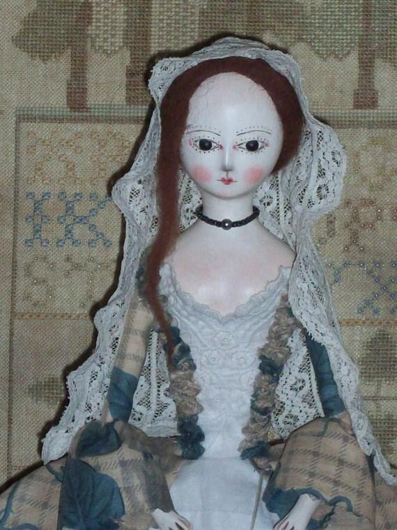 Primitive Queen Anne Inspired OOAK Art Doll