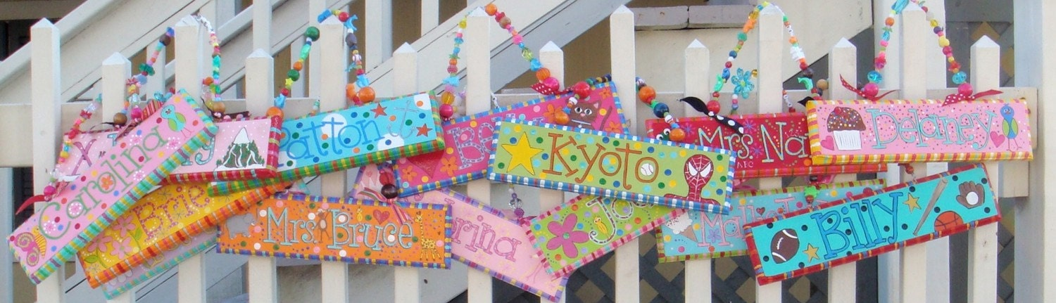 Hand Painted Name Signs Free Shipping