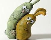 LOVE BUNNIES sculpture