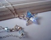 Twinkle -  Swarovski Crystal Star and Sterling Silver Necklace