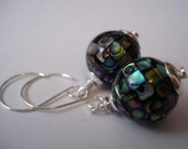 Whimsy - Stunning Abalone and Sterling Silver Earrings