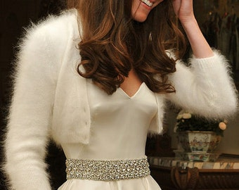 Kate Middleton style customizable wedding bolero/ pick the style and the color and the yarn