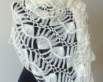 Take me out handmade mohair wedding shawl/stole/shrug