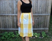 Pretty Yellow Plaid Skirt