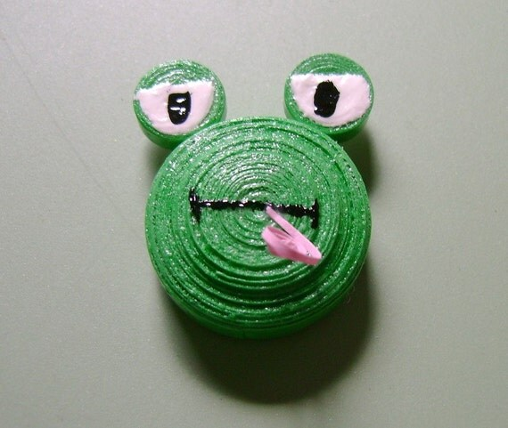 Quilled Frog Magnet
