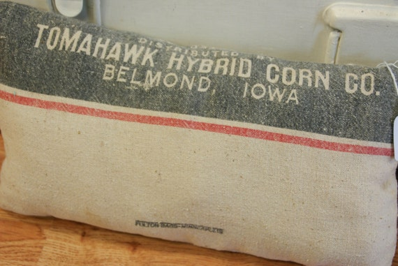 Tomahawk Seed Sack Pillow