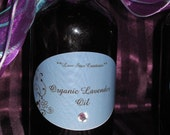 Reserved for CassiopeiaDesigns1 lovely organic lavender oil for massage/bath (8oz.)