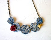 Blue Dressy Necklace - Lace connection
