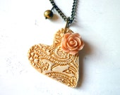 Heart Necklace - Valentine's Day necklace - Valentine's Day Gift - Heart
