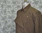 Mens Steampunk Button Bib Front Shirt---The Deadwood Shirt---Made to Order----Made to Personal Measurements