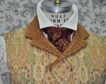 Men's Tie--Ascot--Cravat--Neck Tie---Steampunk--Victorian--All Colors---Custom---Made to Order