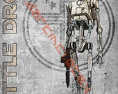 Star Wars Battle Droid - A3 Print 11.69 in by 16.54 in