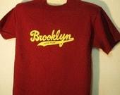 Classic  varsity style BROOKLYN script logo t-shirt