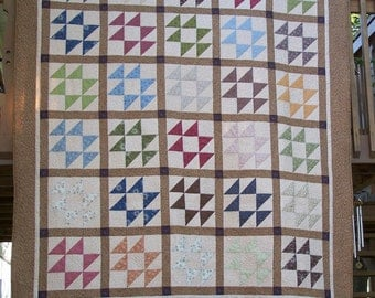Queen Machine Quilted Earth Autumn Tones