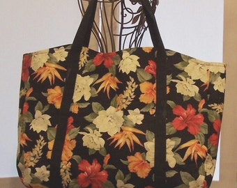 Tote Bag Tropical Floral