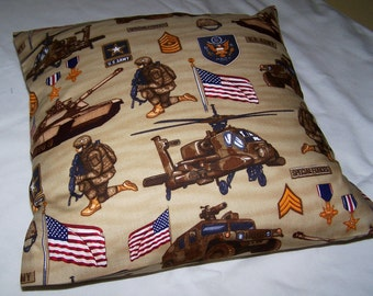 United States Army Toss Pillow Cover