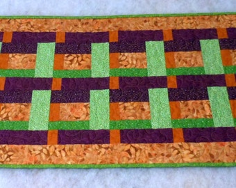 Table Runner Woven Ribbon Tangy Citrus Colors
