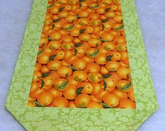 Cloth Handmade Sunshine Orange Table Runner