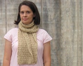 Handmade Lacy Scarf in Earth Tones