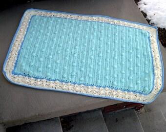 custom-made hand crocheted baby blanket
