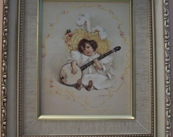 Framed Art, Maud Humphrey Bogart, Susanna, Nanas Vintage Shop on Etsy