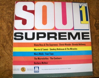 SOUL  SUPREME, Volume 1, Vinyl LP Album, Motown, Nanas Vintage Shop on Etsy