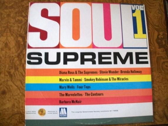 SOUL  SUPREME, Volume 1, Vinyl LP Album, Motown, Nanas Vintage Shop on Etsy