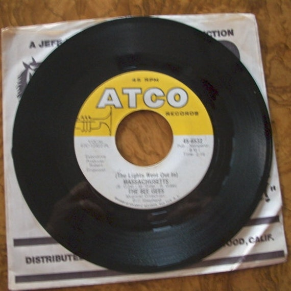 Bee Gees,  The Lights Went Out In Massachusetts & Sir Geoffrey Saved The World, 45 rpm