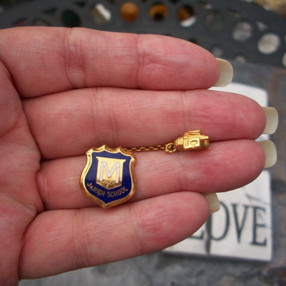 Antique, 1957 Jr. High School Graduation Pin, McKinney Texas