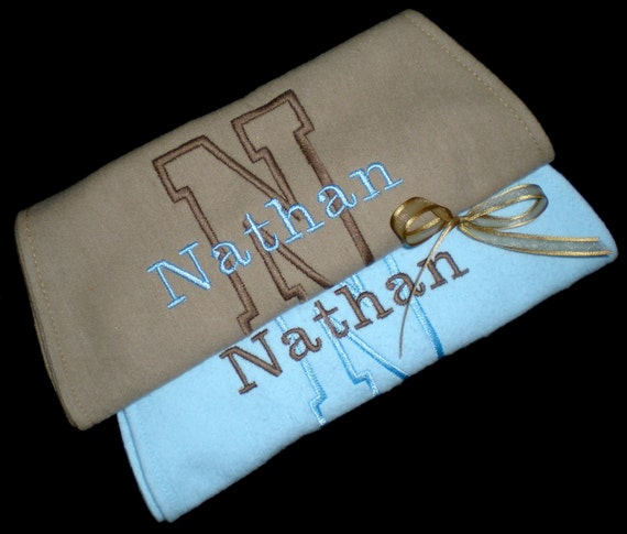 Personalized Burp Cloth Name and Initial set of 2