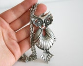 CLEARANCE Metal Owl Necklace