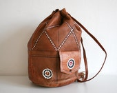 Leather Embroidered Rucksack
