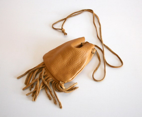 Leather Fringe Pouch