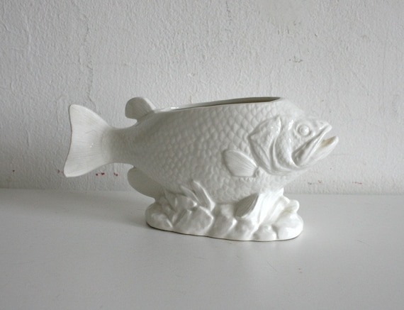 White Fish Planter