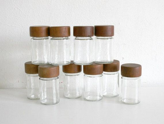 Teak Spice Jars