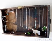 Antique Wooden Drawer Repurposed into a Jewelry Display Case Handmade by Rust Magnet