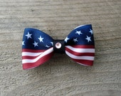 Small Patriotic/ Fourth of July Bow Tie hair Bow