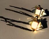 Herkimer Diamond Cut Crystal Chain Fringe Earings
