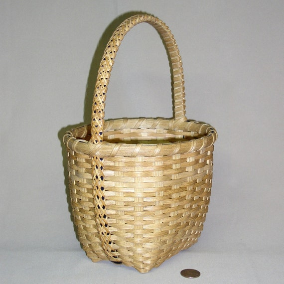 Carolina Charm Basket - with Decorative Braided Handle, Hand Woven