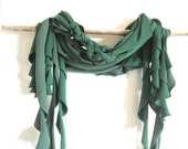 Eco Friendly. Upcycled T-Shirt. Fall Fashion. Woodland Green. Nature. Scarf Set. FREE Shipping