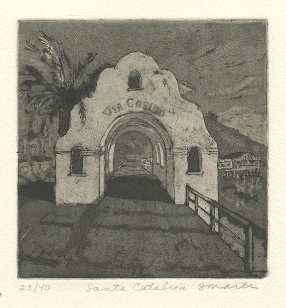 Santa Catalina Island, Original Etching