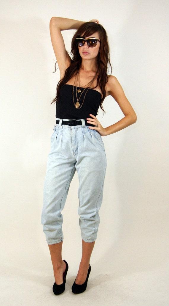 High waist jeans hipster