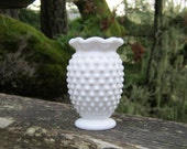 CUSTOM order RESERVED for MELISSA only - Miniature Fenton Milk Glass Hobnail Vase
