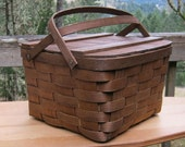 Square Picnic Pie Basket Made in USA